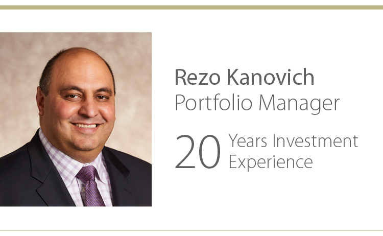 Rezo Kanovich, Portfolio Manager - 20 Years Investment Experience
